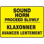 "Accuform FBMVHR923XV, Traffic Sign ""Sound Horn Proceed Slowly"""