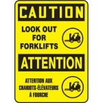"Accuform FBMVTR605XT, 18″ x 12″ Sign ""Caution, Look Out For Forklifts"""