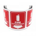 "Accuform FBPSJ328, 180D Projection 12″ Sign ""Fire Extinguisher"""