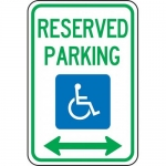 """Accuform FRA146RA, Federal Sign """"Reserved Parking Double Arrow"""""""