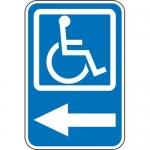 "Accuform FRA220RA, Handicap Sign ""Handicapped Parking Left Arrow"""