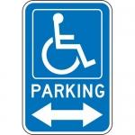 "Accuform FRA221RA, Handicap Sign ""Handicapped Parking Double Arrow"""