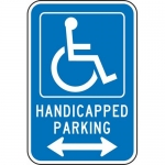 """Accuform FRA226RA, Parking Sign """"Handicapped Parking Double Arrow"""""""