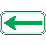 """Accuform FRA260RA, Parking Sign with Symbol """"Reflective Double Arrow"""""""