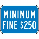 """Accuform FRA275RA, 6″ x 12″ Parking Sign with Symbol: """"Double Arrow"""""""