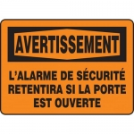 """Accuform FRMABR303VP, French OSHA Sign """"Avertissement, L'Alarme…"""""""