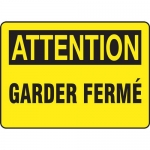 "Accuform FRMABR612XT, Sign ""Attention, Garder…"" Dura-Plastic"