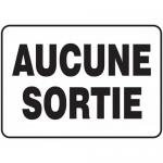"""Accuform FRMADC524XT, Sign """"Aucune Sortie"""" Dura-Plastic"""