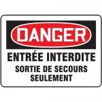 "Accuform FRMADM001XF, Sign ""Entree Interdite Sortie De Secours…"""