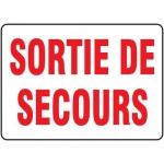 "Accuform FRMADM510XF, French Sign ""Sortie De Secours"" Dura-Fiberglass"