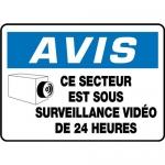 """Accuform FRMASE815VS, French Sign """"Ce Secteur Est Sous…"""""""