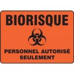 """Accuform FRMBHZ501XL, French Sign """"Biorisque, Personnel Autorise…"""""""