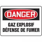 """Accuform FRMCHG059XL, French Sign """"Gaz Explosif Defense De Fumer"""""""