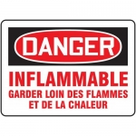 "Accuform FRMCHG063XL, Sign ""Inflammable Garder Loin Des Flammes"""