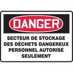"""Accuform FRMCHG082XL, French Sign """"Secteur De Stockage Des Dechets…"""""""