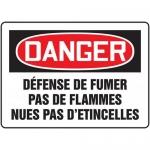 "Accuform FRMCHG094XF, French Sign ""Defense De Fumer Pas De Flammes"""