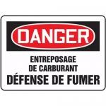 """Accuform FRMCHL195XF, Sign """"Entreposage De Carburant Defense De Fumer"""""""