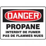 "Accuform FRMCHL200VA, OSHA French Sign ""Propane Interdit De Fumer…"""