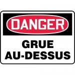 "Accuform FRMCRT154VP, OSHA French Sign ""Grue Au-Dessus"" Plastic"