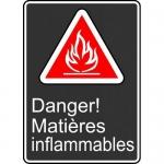 "Accuform FRMCSA140XL, Sign ""Danger! Matieres Inflammables"""