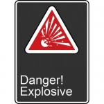 "Accuform FRMCSA145XL, French Sign ""Danger! D`explosion"" Aluma-Lite"
