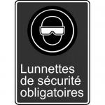 """Accuform FRMCSA560XL, French Sign """"Lunnettes De Securite Obligatoires"""""""