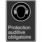 """Accuform FRMCSA563XL, French Sign """"Protection Auditive Obligatoire"""""""