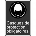 """Accuform FRMCSA567XL, French Sign """"Casques De Protection Obligatoires"""""""