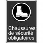 """Accuform FRMCSA570XL, Sign """"Chaussures De Securite Obligatoires"""""""