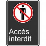"Accuform FRMCSA580XL, French Sign ""Acces Interdit"" Aluma-Lite"