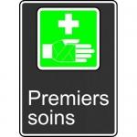 "Accuform FRMCSA940XL, French Sign ""Premiers Soins"" Aluma-Lite"