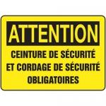 """Accuform FRMCSP628XF, French Sign """"Ceinture De Securite Et Cordage…"""""""