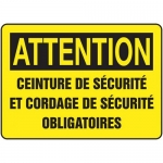 """Accuform FRMCSP628XL, French Sign """"Ceinture De Securite Et Cordage…"""""""