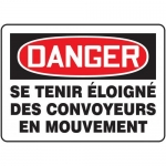 "Accuform FRMECN003XF, Sign ""Se Tenir Eloigne Des Convoyeurs En…"""