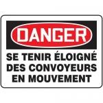 "Accuform FRMECN003XL, Sign ""Se Tenir Eloigne Des Convoyeurs En…"""