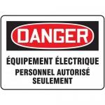 """Accuform FRMELC190XF, Sign """"Equipement Electrique Personnel…"""""""