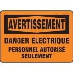 """Accuform FRMELC312XF, Sign """"Danger Electrique Personnel Autorise…"""""""