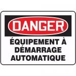 """Accuform FRMEQM055XT, Sign """"Equipement a Demarrage Automatique"""""""