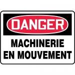 """Accuform FRMEQM060VP, OSHA French Sign """"Machinerie En Mouvement"""""""