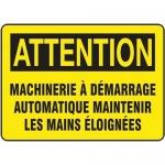 "Accuform FRMEQM746XF, Sign ""Machinerie a Demarrage Automatique…"""