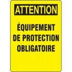 """Accuform FRMEQT604XL, Sign """"Equipement De Protection Oblagatoire"""""""
