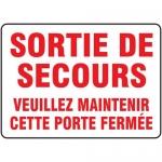 """Accuform FRMEXG504XF, Sign """"Sortie De Secours Veuillez Maintenir…"""""""