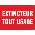 "Accuform FRMEXG507XF, French Sign ""Extincteur Tout Usage"""