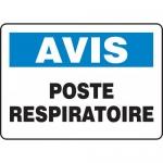 """Accuform FRMFSD821XF, Dura-Fiberglass French Sign """"Poste Respiratoire"""""""