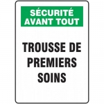 "Accuform FRMFSD945XF, French Sign ""Trousse De Premiers Soins"""