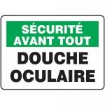 "Accuform FRMFSR516XL, Aluma-Lite OSHA French Sign ""Douche Oculaire"""