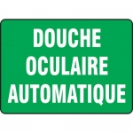 "Accuform FRMFSR519XL, French Sign ""Douche Oculaire Automatique"""