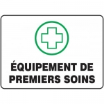 "Accuform FRMFSR521XF, French Sign ""Equipement De Premiers Soins"""