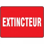 "Accuform FRMFXG477XF, Dura-Fiberglass French Sign ""Extincteur"""