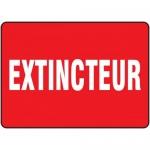 "Accuform FRMFXG588VS, Adhesive Vinyl French Sign ""Extincteur"""